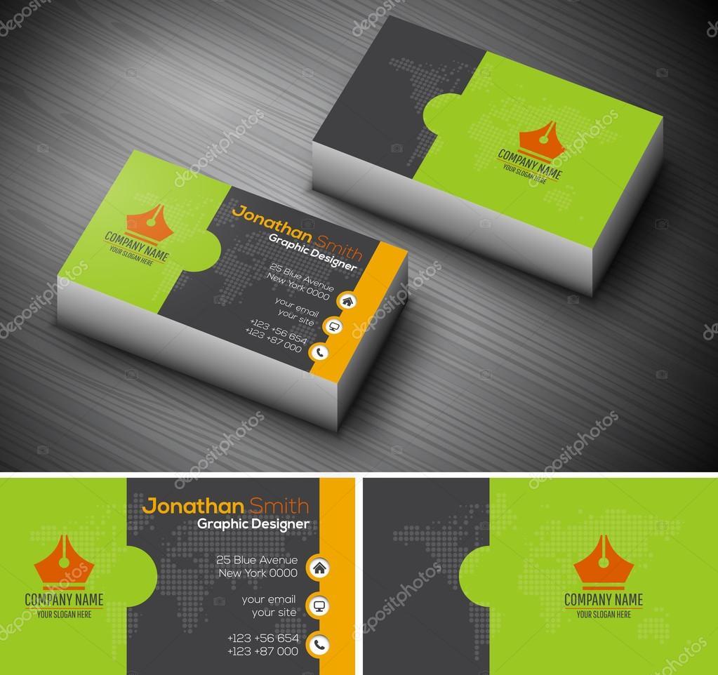 Creative Business Card — Stock Vector © grki #112495224