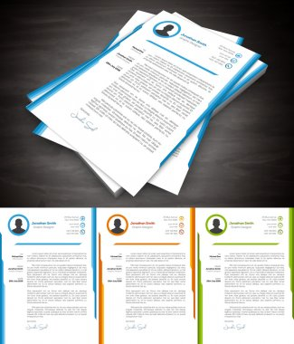 Cover Letter in 3 Colors