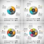 4 v 1 obchodu Infographic Bundle