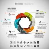 Kreativní obchodní infographic