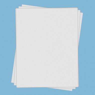 Fanned, stacked blank papers, isolated with shadow and clipping path stock vector