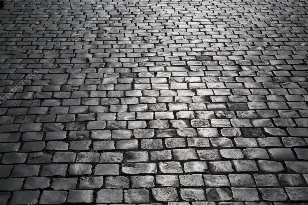 Textura de viejos adoquines calle de la ciudad foto de for Adoquin para estacionamiento
