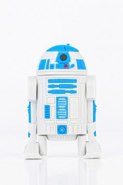 R2-D2 Robot  rubber mini figure from the Star Wars.