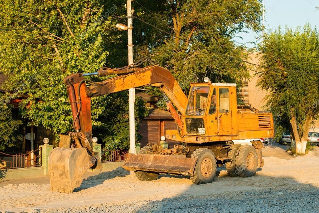 Old Russian excavator