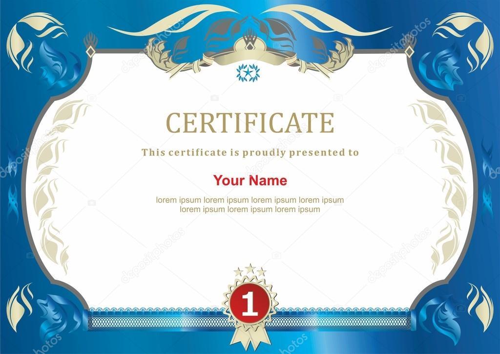Certificate. Flower ornamental frame — Stock Vector © Olga_968 #64350737