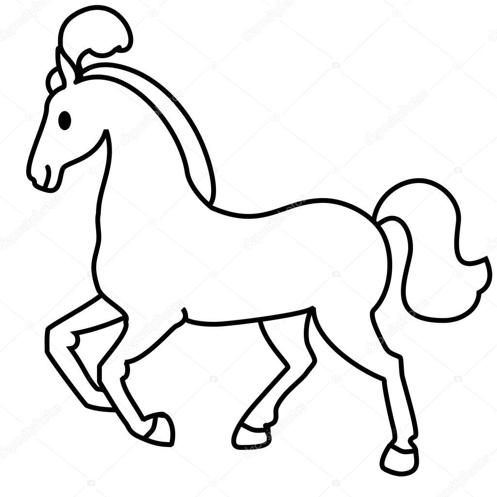 desenho de linha simples cavalo vetores de stock olga 968 94656186