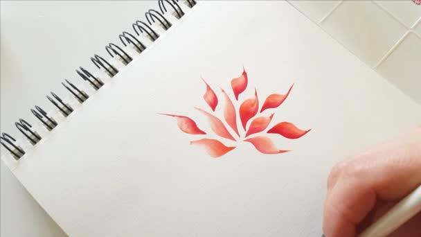 Festés virág akvarell közelről