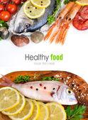 Čerstvé ryby, mořské plody a zelenina