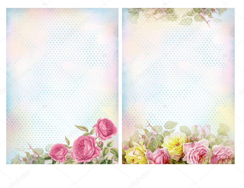 Shabby Chic Backgrounds With Roses Floral Pastel Vintage Background Photo By Karissaa