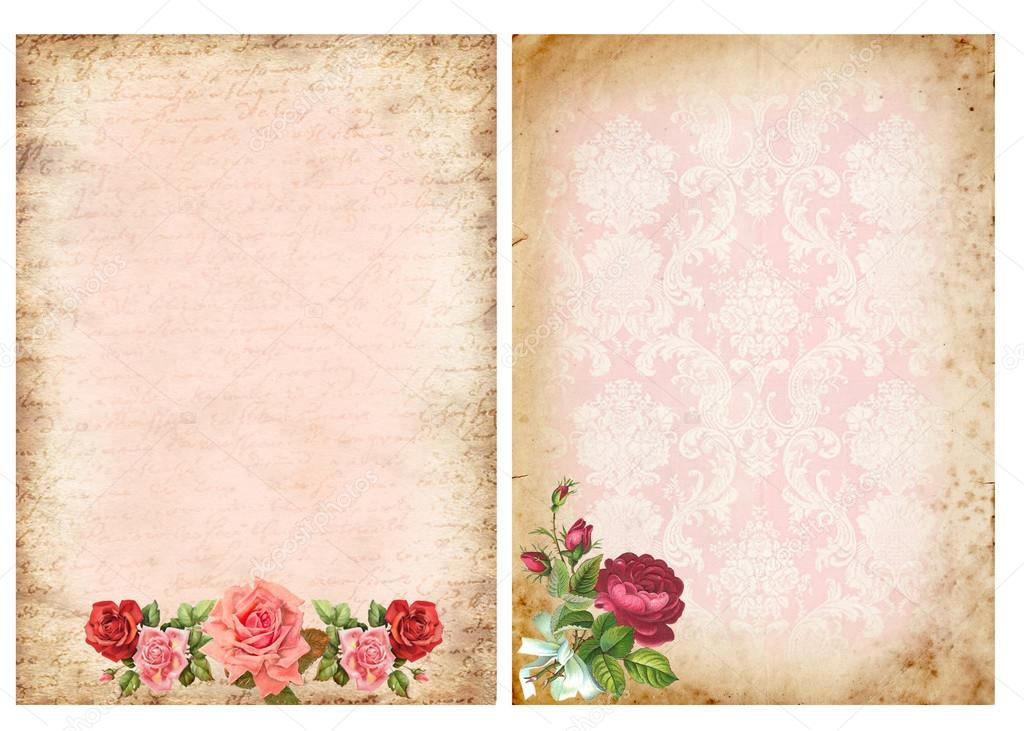 Fondo De Flores Vintage: Fondos Vintage Con Rosas — Foto