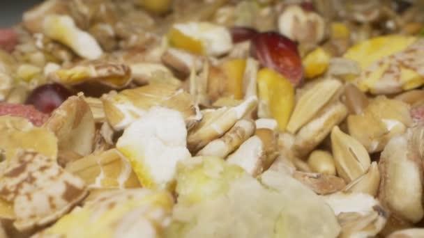 extrémní detailní záběr. obilné krmivo pro hlodavce