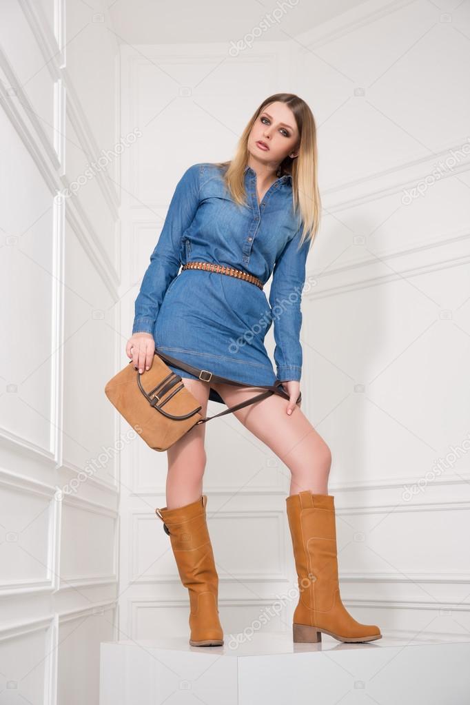 jeansjurk meisje