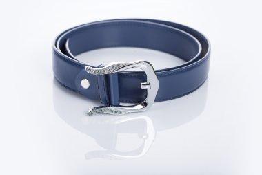 blue Womens belt with rhinestones