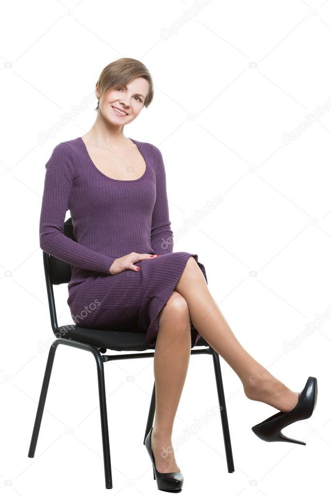 Сексуально скрещенный ноги
