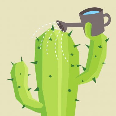 Cactus watering him self