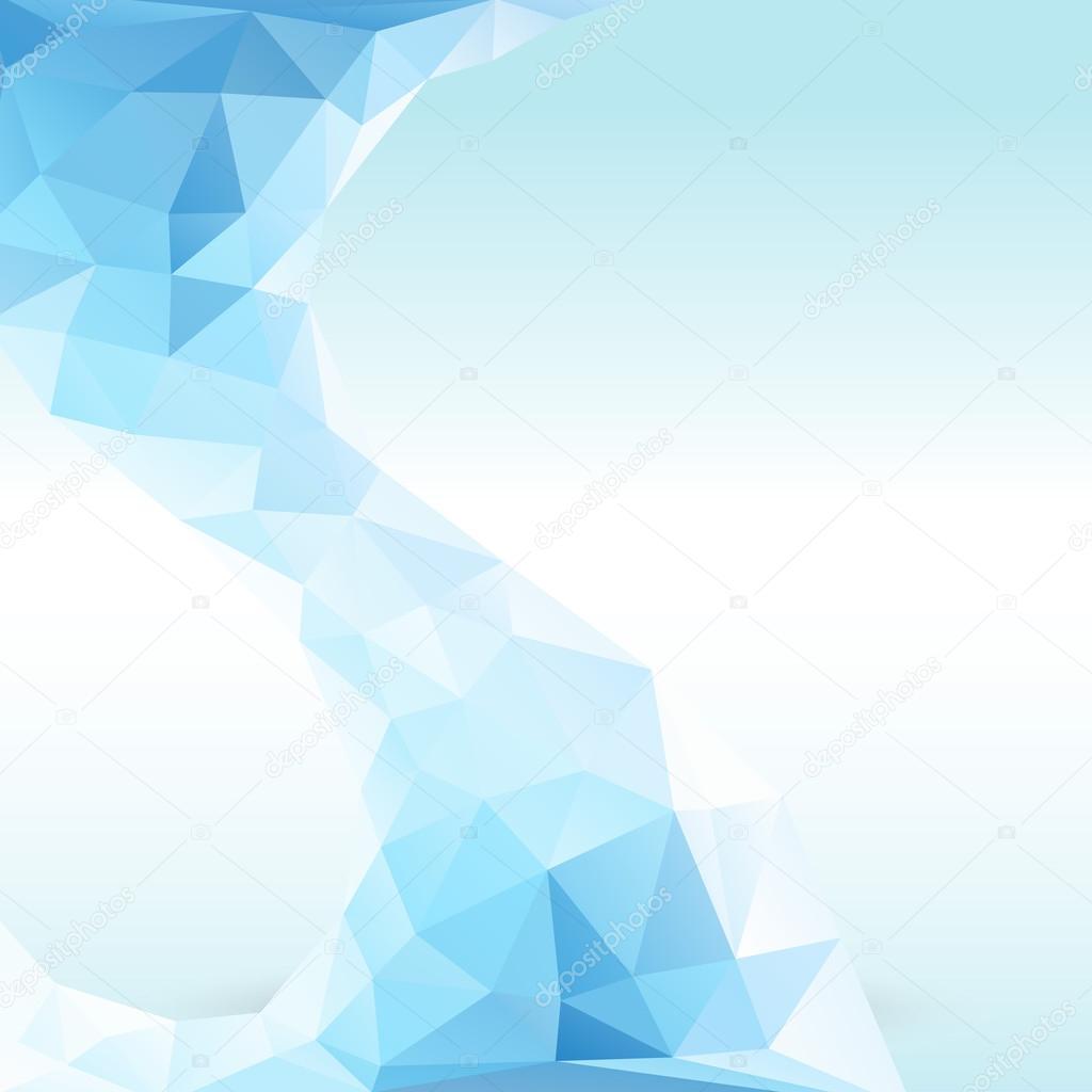 Crystal ice. Vector illustration