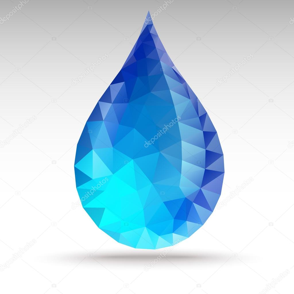 Water drop Polygon