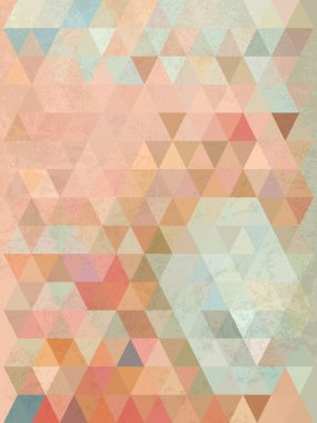 Abstract antiique background with pastel color of triangle