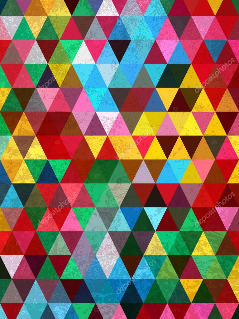 Triángulos colores y patrón de mármol — Vector de stock © nopstudio ...