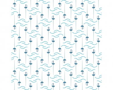 Pattern from the set for the Musketeer sword in a line on a white background icon