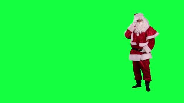 Santa Claus shows up on something chroma key (green screen)