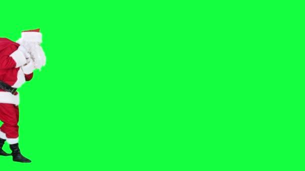 Santa Claus s Dárková taška chroma klíč (zelená obrazovka)