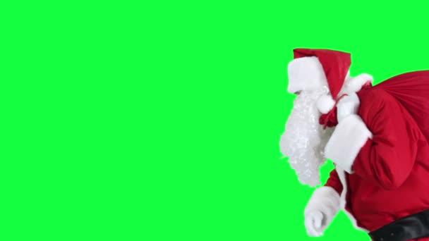 Mikulás ajándék táska chroma key (zöld képernyő)