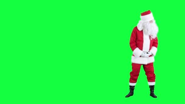 Santa Claus objeví na něco chroma klíč (zelená obrazovka)