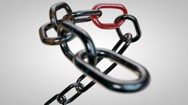 Rusty chain with the weakest link