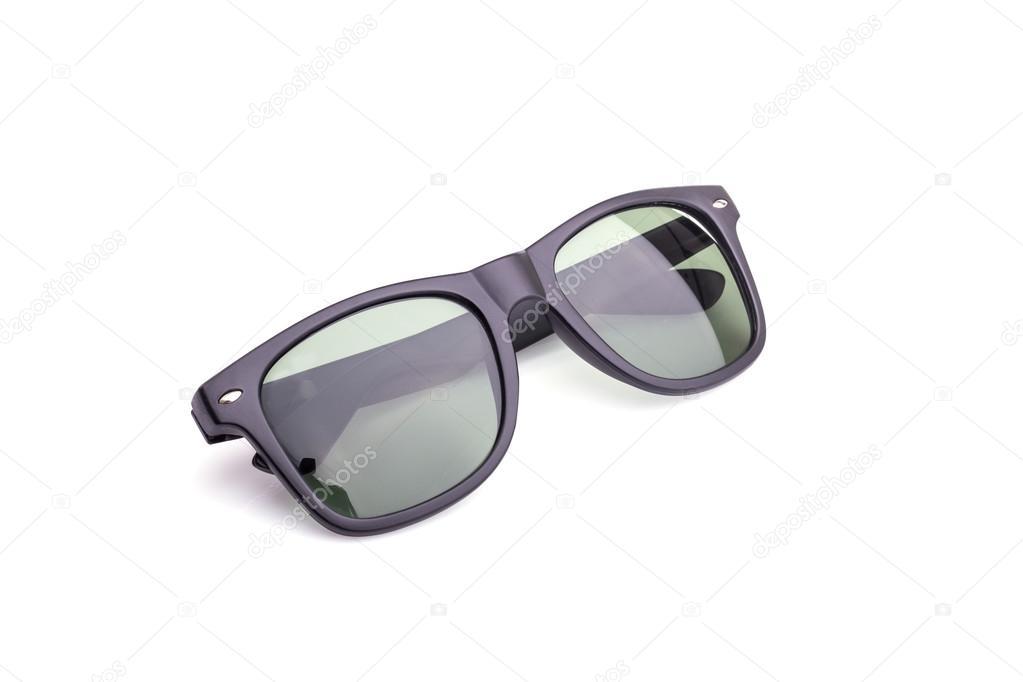 ae76c03ea93e4b Close-up van zwarte bril geïsoleerd op wit — Stockfoto ...
