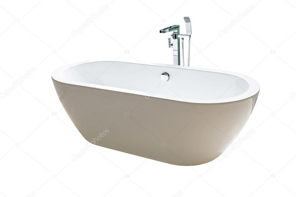 Vasca Da Bagno Stretta : Vasca da bagno bianca nuova stretta isolato su bianco u foto stock