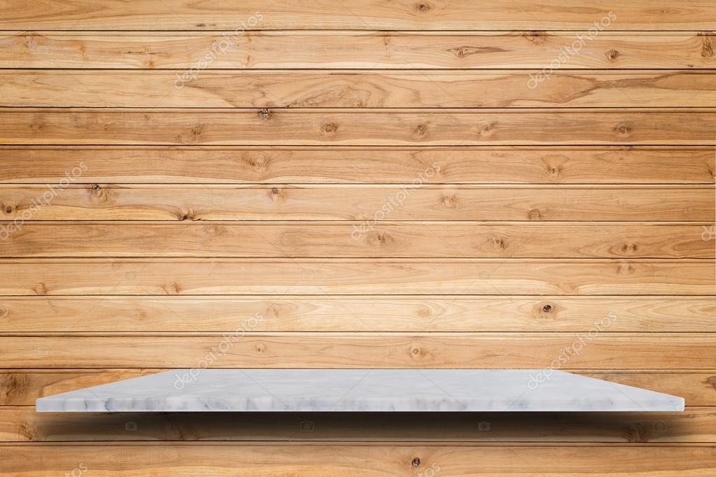 Alto Vuoto Di Mensole Di Pietra Naturale E Legno Muro Sfondo Foto