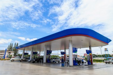 PTT Gas Station on Aug 31,14 in Thailand. PTT is a Thai state-owned SET-listed oil and gas company which owns extensive submarine gas pipelines in the Gulf of Thailand.