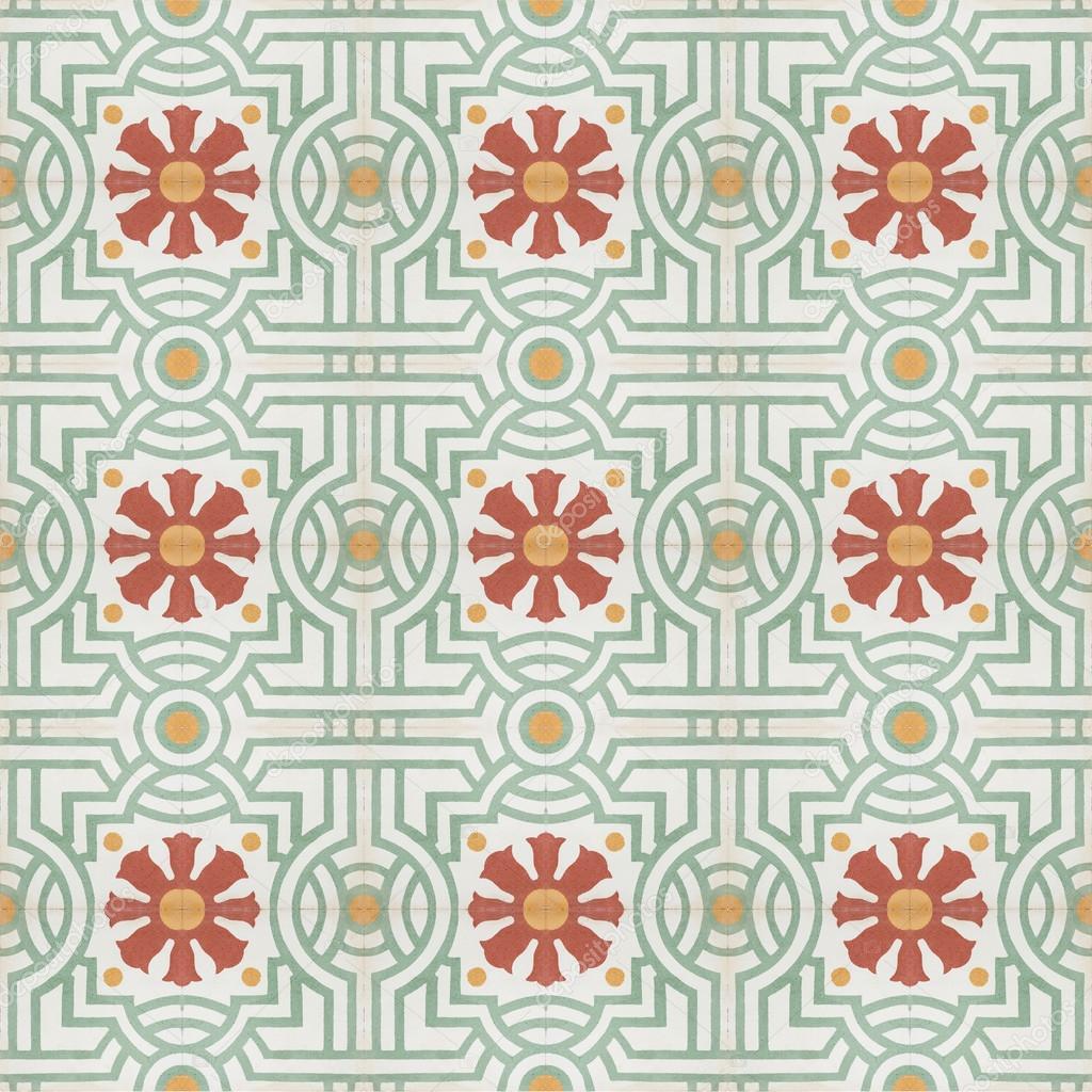 Vintage-Stil Boden Fliese Muster Textur und Hintergrund — Stockfoto ...