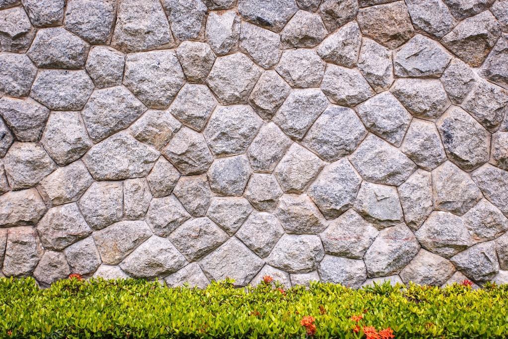 steinmauer granit und dekorative garten stockfoto 60061273. Black Bedroom Furniture Sets. Home Design Ideas