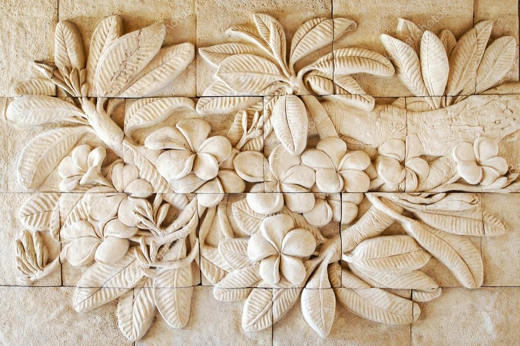 Flower of stone carving hand made in thailand — stock