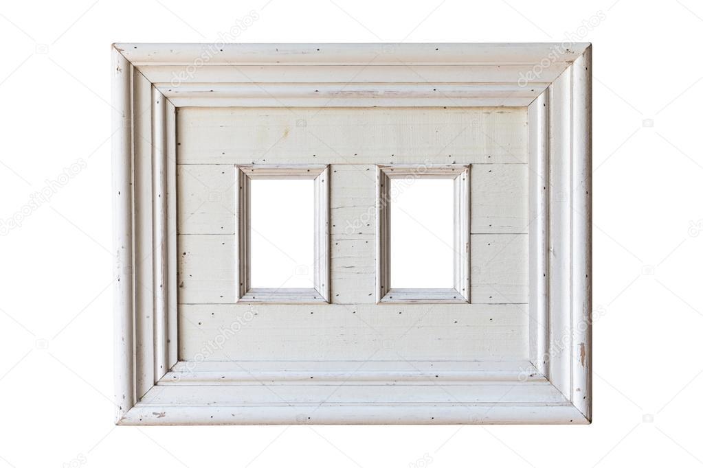 marco de madera blanco — Foto de stock © PhanuwatNandee #63371743