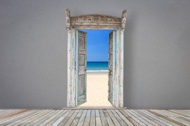 door  opening  to the beach