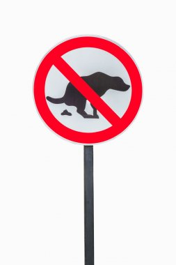 No dog shit sign isolated on white background