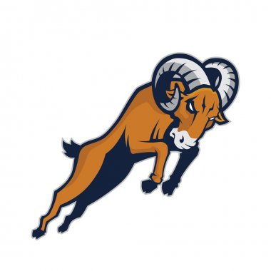 Charging ram mascot