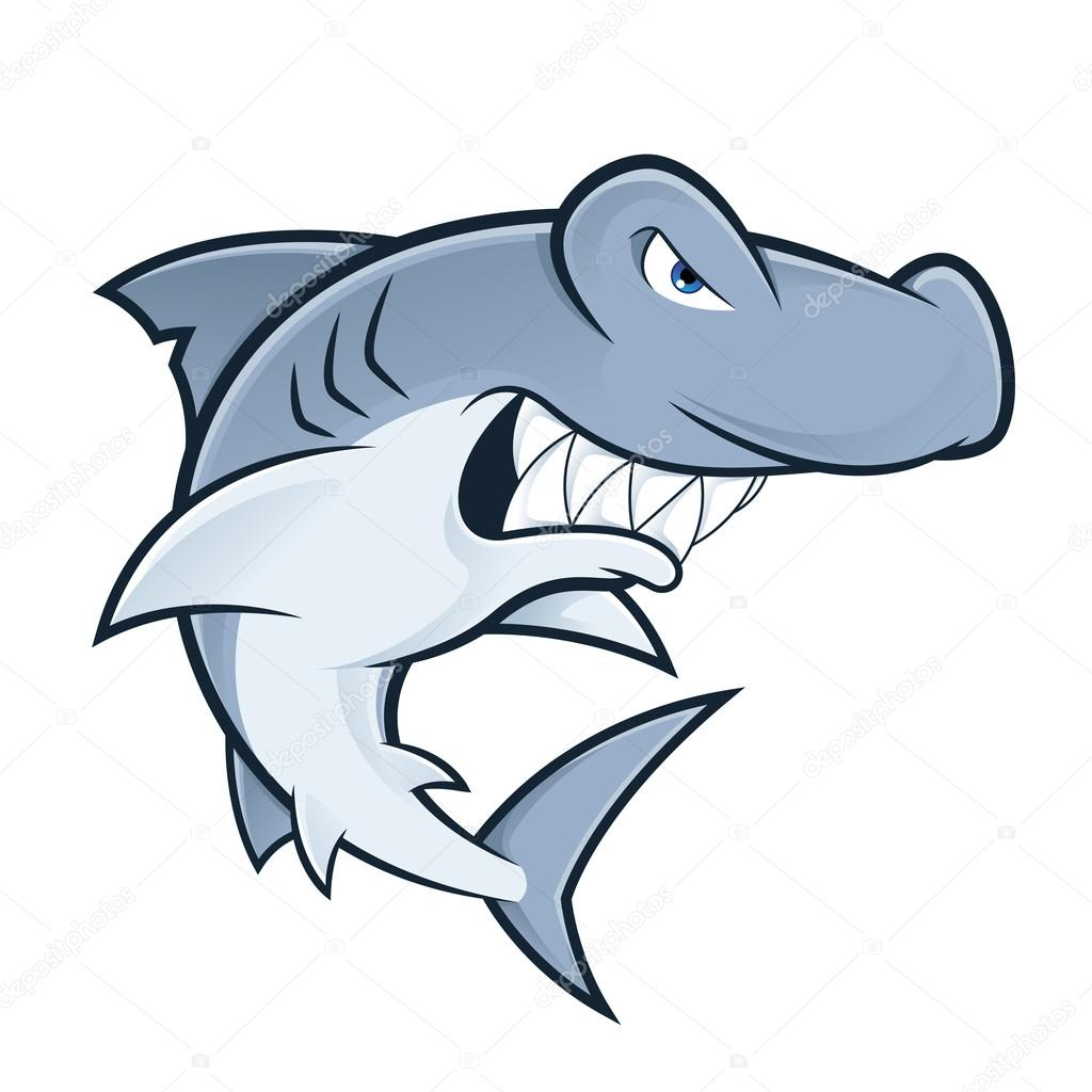 hammerhead shark mascot stock vector sundatoon 116661392 rh depositphotos com hammerhead shark clipart black and white Hammerhead Shark Clip Art Black and White