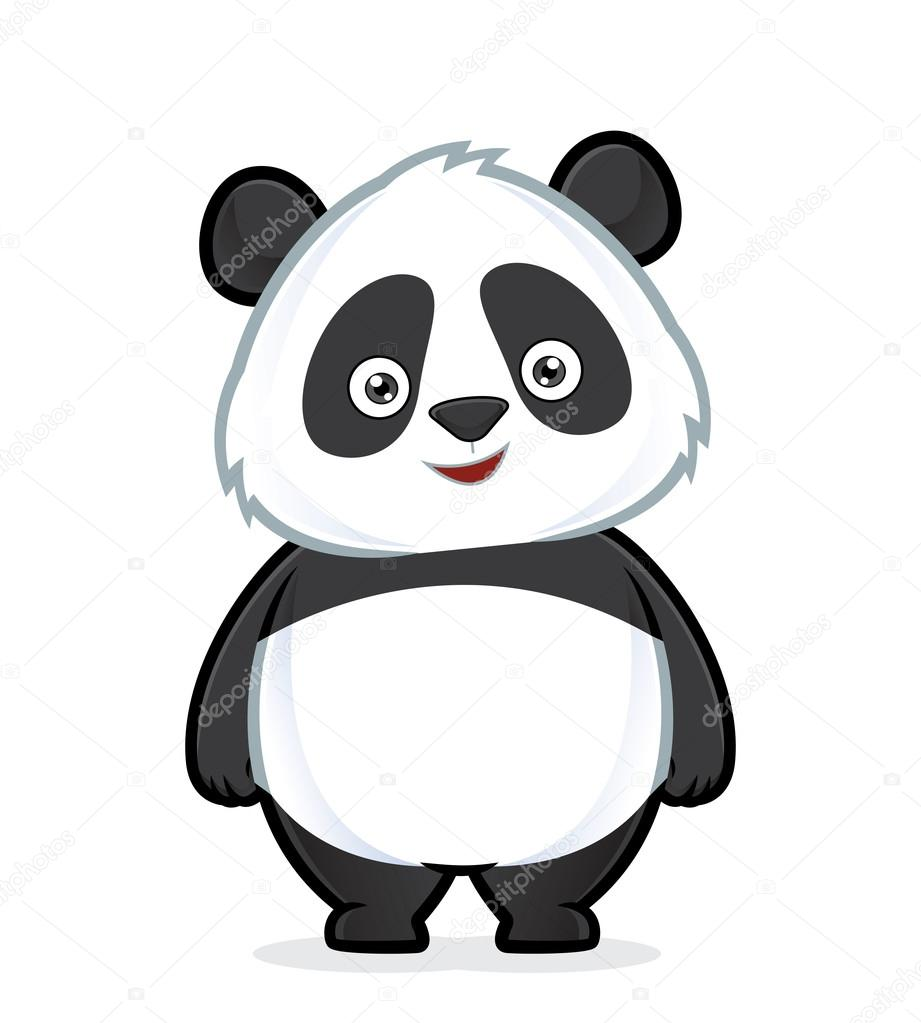 panda standing stock vector  u00a9 sundatoon 61516793 polar bear clip art images polar bear clipart black