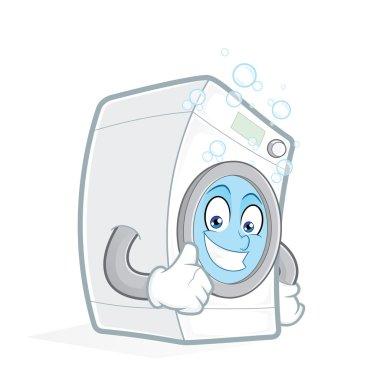 Washing machine giving thumbs up