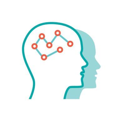 Psychology icon illustration