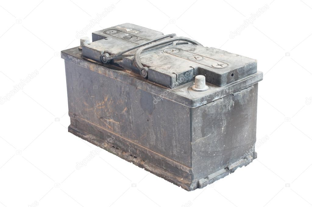 utilis batterie sur fond blanc isol de vieille voiture photographie supanuttphoto 65751487. Black Bedroom Furniture Sets. Home Design Ideas