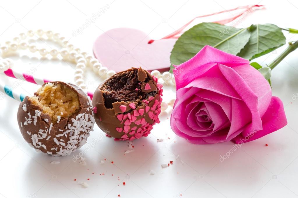 Kuchen Am Stiel Cake Pops Stockfoto C 02irina 94653286