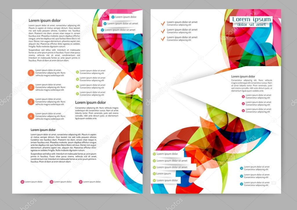 abstrakte farbige Broschüre — Stockvektor © Maria_lh #88686788