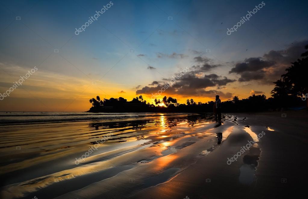 Beautiful Tropical Beach In Sri Lanka