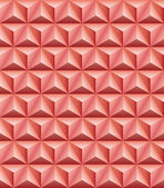 Trihedral pyramid red-brown clay seamless texture