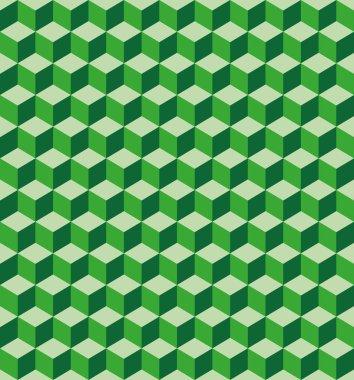 Green cubes seamless texture